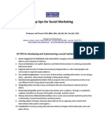 Top Tips for Social Marketing