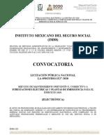 CONVOCATORIA SUBESTACIONES 2020