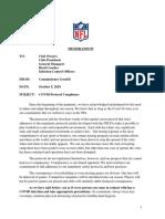 NFL COVID-19 memo