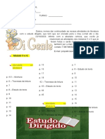 Estudo Dirigido  6ºano IIIunidade Redação & Literatura