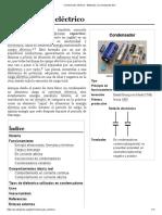 Condensador eléctrico aplicativos