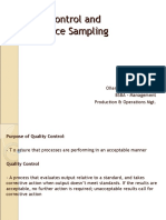 Quality Control and Acceptance Sampling