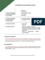 Esquema - Modelo de Informe de Evaluación Del Habla