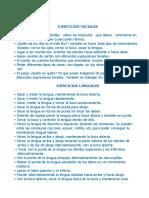Ejercicios de Respiración - Soplo - Faciales - Labiales - Linguales y Mandibulares