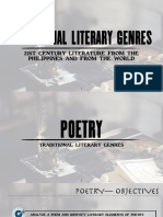 1- Traditional Genre (Poetry)