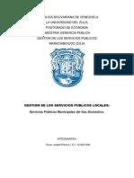 Servicios Públicos Municipales del Gas Doméstico