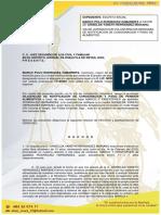 DILIGENCIAS DE CONSIGNACION DE ALIMENTOS MARCO POLO