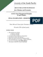 AG212 Exam