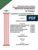 ACTIVIDAD 1 REPORTE DE INVESTIGACIÓN