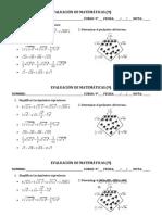 3- Evaluación de Radicación (suma y resta)