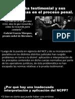 La prueba testimonial y sus problemáticas en el 22.pptx