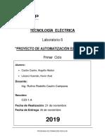 Tecnología Eléctrica -  Proyecto de Automatización Eléctrica