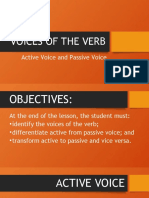 Lesson 3 Voices of the Verb English 7