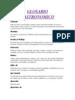 GLOSARIO GASTRONOMICO
