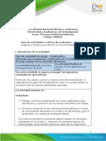 Guía de actividades y rúbrica de evaluación – Tarea 2 Orígenes y factores que influyen en la biorremediación
