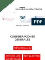 Marcas. Registrabilidad, Prohibiciones absolutas y relativas (1)