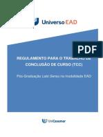 Regulamento para o TCC