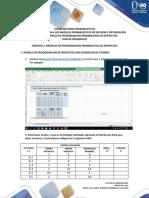 GUIA DE DESARROLLO EJERCICIO 2 MODELOS DE PROGRAMACION PROBABILISTICA DE PROYECTOS  - TAREA 1(16-04)