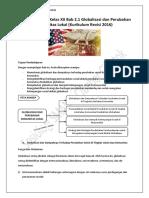 Materi Sosiologi Kelas XII Bab 2.1 Globalisasi dan Perubahan Komunitas Lokal (Kurikulum Revisi 2016)