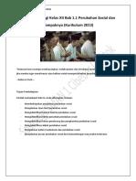 Sosiologi Kelas XII Bab 1.1 Perubahan Sosial dan Dampaknya (Kurikulum 2013)