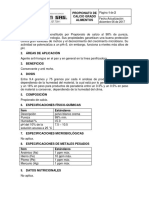 FICHA TECNICA PROPIONATO DE CALCIO GRADO ALIMENTOS