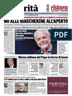 La rassegna  stampa del 6 ottobre 2020,martedì, giornali pdf