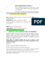 ACTIVIDADES EMPRENDIMIENTO SEMANA 6-7