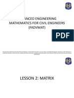 SEND LESSON 2 - MATRIX