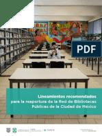 Lineamientos para la reapertura de bibliotecas
