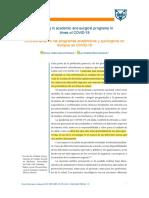 2020.    García-Peromo     La enseñanza en los programas académicos y quirúrgicos en tiempos de COVID-19