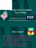 Best Practices for Lesson Planning