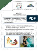 BERÇÁRIO - BRINCADEIRA COM ÁGUA