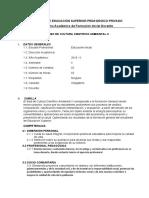 SILABUS CULTURA CIENTIFICO AMBIENTAL II EDUC. INICIAL