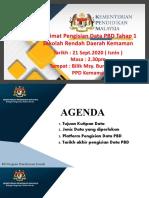 taklimat pengisian data PBD Tahap 1