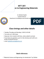 Class Notes for Engineering Materials (MNIT Jaipur)