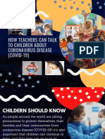How Teachers Can Talk to Children About Coronavirus Disease (COVID-19)
