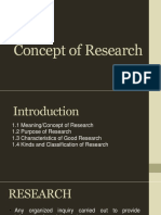INTRO Concept of Research