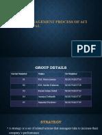 Strategic Management process ACI