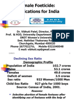 Female Foeticide-Implications for India by Vibhuti Patel
