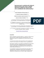 Clima organizacional y satisfacción laboral en organizaciones del sector estatal