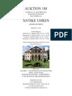Auktionskatalog 188