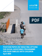 Position Paper on Targeting Options for Social Assistance Programme