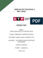 TIPOLOGIAS DE LA CONSTITUCION