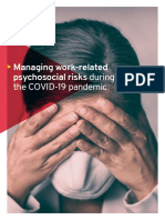Managing work-related psychosocial risks during the COVID-19