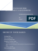 FOREIGN EXCHANGE RISK MANAGEMENT AND EXPOSURE