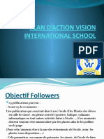 PLAN D'ACTION VISION INTERNATIONAL SCHOOL