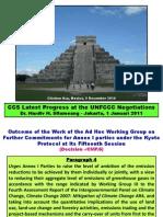 CCS Latest Progress at UNFCCC Negotiations_1 Jan 2011
