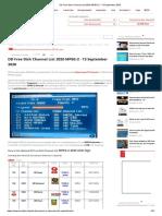 DD Free Dish Channel List 2020 MPEG-2 - 13 September 2020