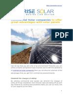 Commercial Solar companies