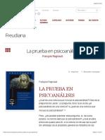 Regnault-La prueba en psicoanálisis – Freudiana